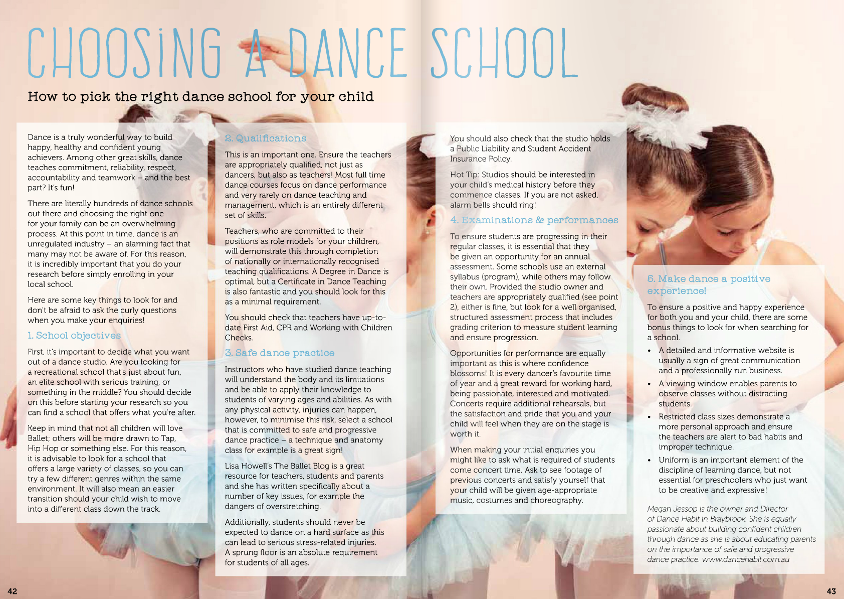 Choosing a Dance School